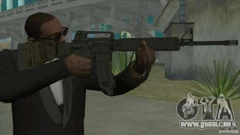 M16A4 from BF3 pour GTA San Andreas deuxième écran