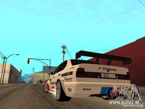 BMW E34 M5 - DTM pour GTA San Andreas sur la vue arrière gauche
