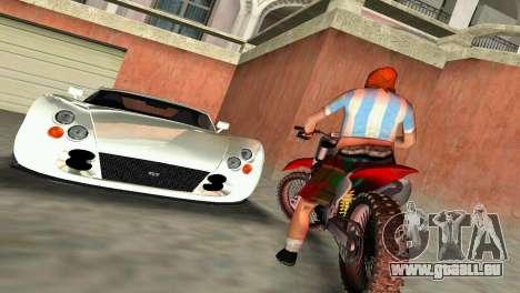 TVR Cerbera Speed 12 pour GTA Vice City vue arrière