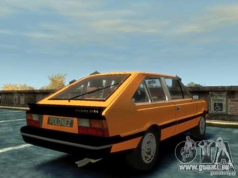 FSO Polonez 2.0X Coupe pour GTA 4 Vue arrière de la gauche