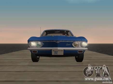 Chevrolet Corvair Monza 1969 für GTA San Andreas Rückansicht