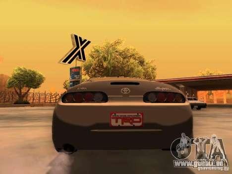 Toyota Supra GTS pour GTA San Andreas sur la vue arrière gauche