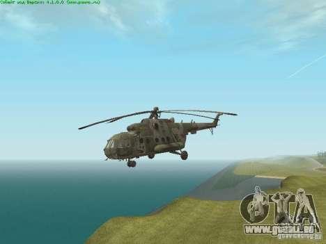 MI-8 MTV pour GTA San Andreas laissé vue