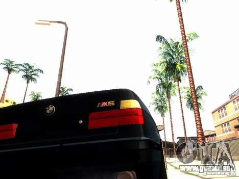 BMW 535i E34 für GTA San Andreas Innenansicht