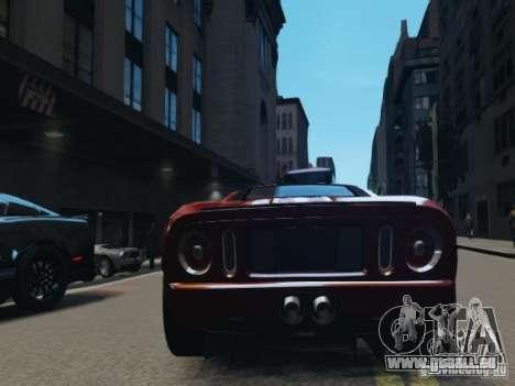 Ford GT pour GTA 4 Vue arrière de la gauche