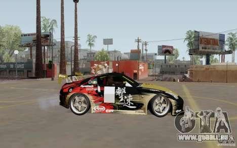 Nissan 350Z pour GTA San Andreas vue intérieure