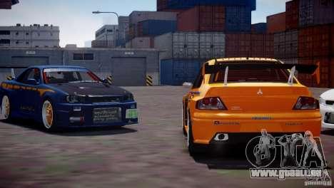 Mitsubishi Lancer Evo VIII FnF Vinyl für GTA 4 hinten links Ansicht