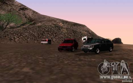 VAZ-2172 für GTA San Andreas Rückansicht