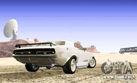 Dodge Charger 1969 SpeedHunters pour GTA San Andreas laissé vue