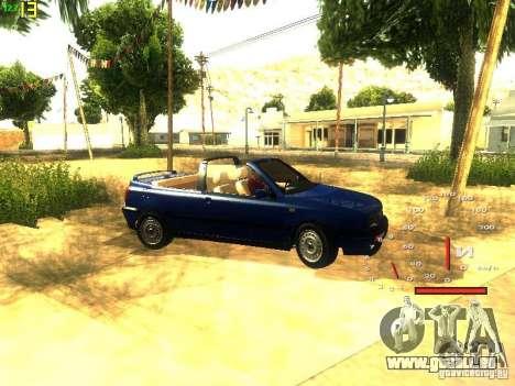 Volkswagen Golf MK3 Cabrio 1993 pour GTA San Andreas vue intérieure