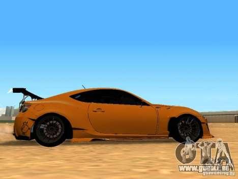 Toyota FT86 Rocket Bunny V2 pour GTA San Andreas vue arrière