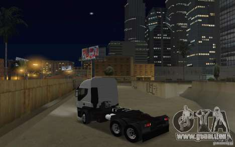 Iveco Stralis Double Trailers pour GTA San Andreas sur la vue arrière gauche