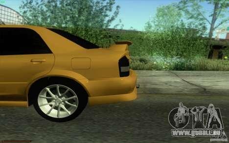 Mazda Speed Familia 2001 V1.0 für GTA San Andreas Rückansicht