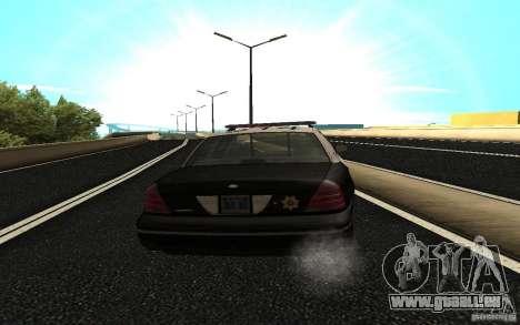 Ford Crown Victoria Police pour GTA San Andreas sur la vue arrière gauche