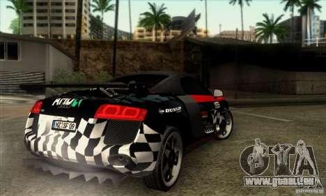 Audi R8 Spyder Tunable pour GTA San Andreas vue arrière