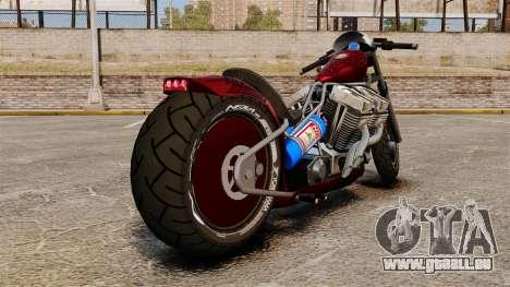Dragbike Street Racer pour GTA 4 Vue arrière de la gauche