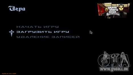 Nouveau menu de CatVitalio pour GTA San Andreas troisième écran
