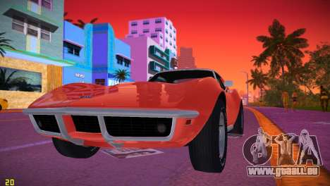 Chevrolet Corvette (C3) Stingray T-Top 1969 für GTA Vice City linke Ansicht