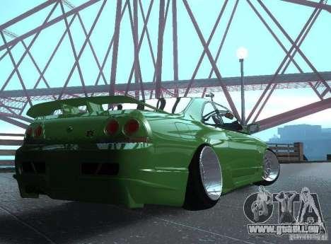 Nissan Skyline R33 pour GTA San Andreas laissé vue
