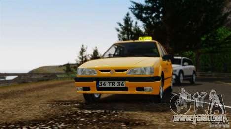 Taxi Renault 19 pour GTA 4 Vue arrière