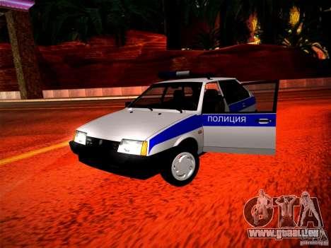 VAZ 2109 Polizei für GTA San Andreas Innenansicht