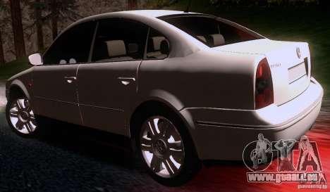 Volkswagen Passat B5+ pour GTA San Andreas sur la vue arrière gauche