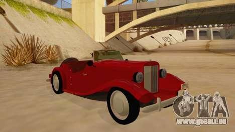 MG Augest für GTA San Andreas Rückansicht
