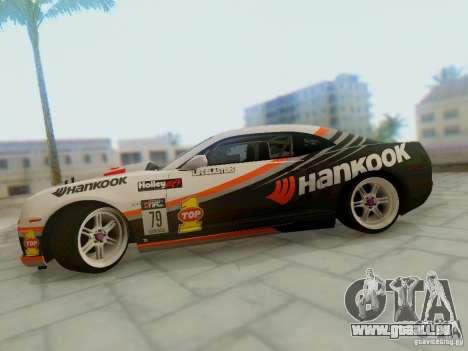 Chevrolet Camaro Hankook Tire pour GTA San Andreas vue de droite