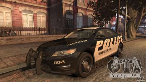 Ford Taurus Police Interceptor 2010 ELS pour GTA 4