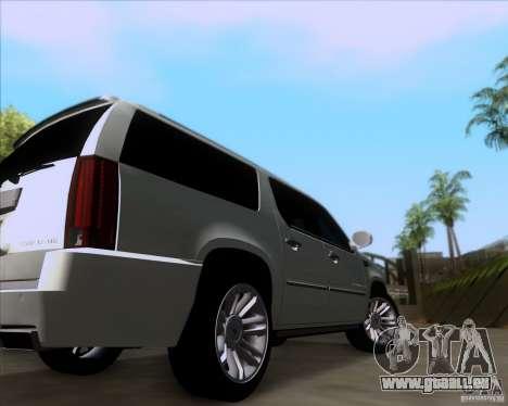 Cadillac Escalade ESV Platinum 2013 pour GTA San Andreas vue arrière