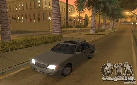 Mercedes Benz C220 pour GTA San Andreas vue arrière