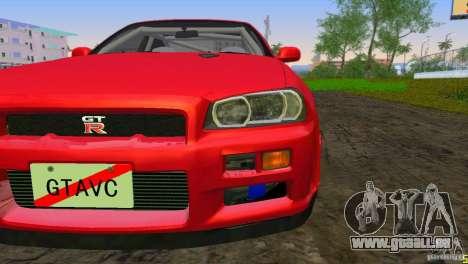 Nissan Skyline GTR R34 pour une vue GTA Vice City de la gauche