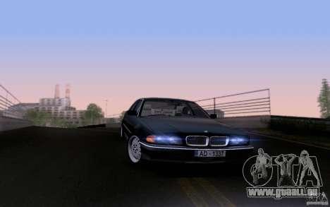 BMW 730i E38 pour GTA San Andreas vue de dessous