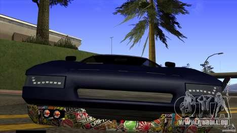 Infernus v3 by ZveR pour GTA San Andreas vue de droite