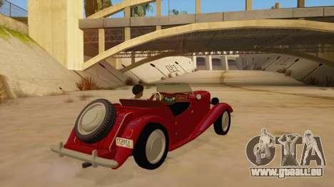 MG Augest für GTA San Andreas rechten Ansicht