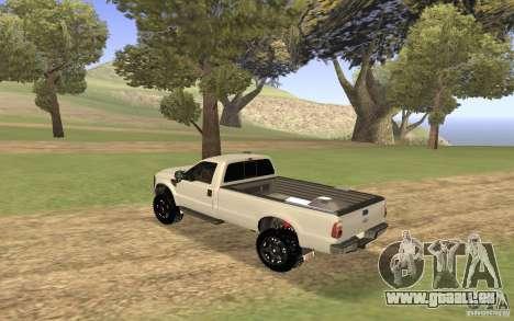 Ford F-250 für GTA San Andreas rechten Ansicht
