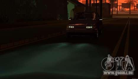 VAZ 2110 Drain pour GTA San Andreas vue de dessus