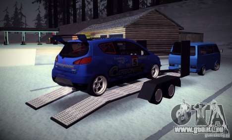 Mitsubishi Colt Rallyart Carbon 2010 pour GTA San Andreas vue de dessus