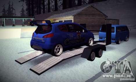 Mitsubishi Colt Rallyart Carbon 2010 für GTA San Andreas obere Ansicht