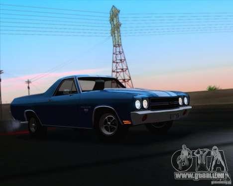Chevrolet EL Camino SS 70 pour GTA San Andreas vue de dessus