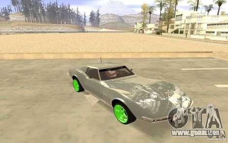 Chevrolet Corvette Stingray Monster Energy für GTA San Andreas zurück linke Ansicht