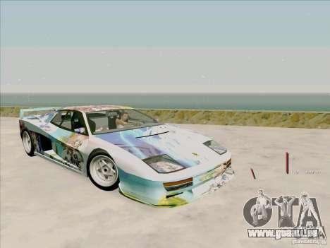 Ferrari Testarossa Custom pour GTA San Andreas vue de dessous
