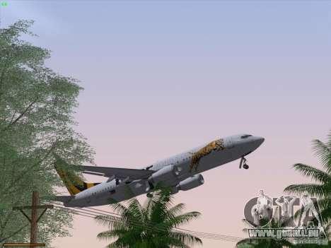 Boeing 737-800 Tiger Airways für GTA San Andreas Innen