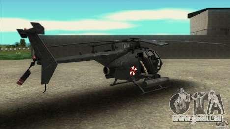 Der Hubschrauber von Residentübel für GTA San Andreas linke Ansicht