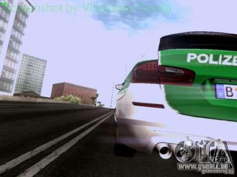 BMW M5 Touring Polizei pour GTA San Andreas vue de côté