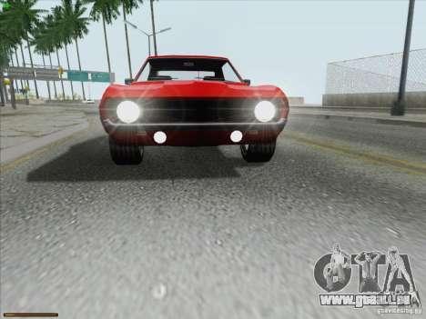 Chevrolet Camaro 1969 für GTA San Andreas Innen