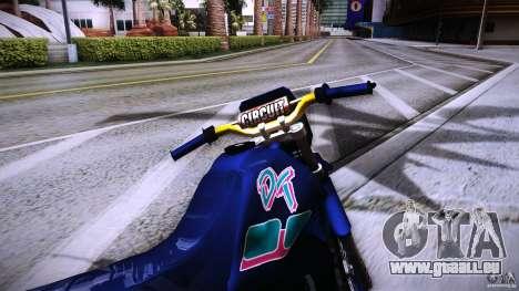 Yamaha DT 180 pour GTA San Andreas vue de droite