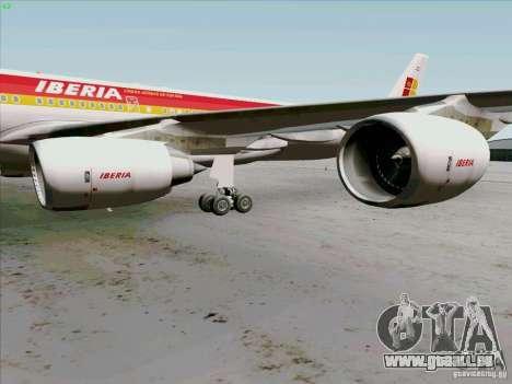 Airbus A-340-600 Iberia für GTA San Andreas Rückansicht