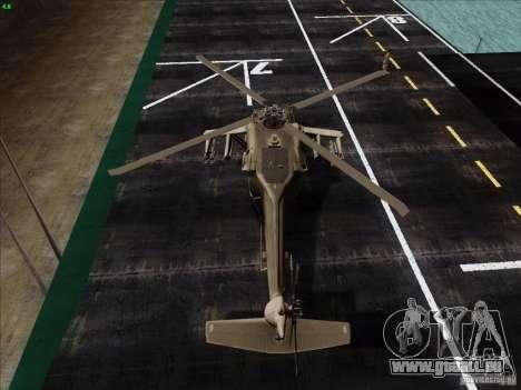 S-70 Battlehawk pour GTA San Andreas sur la vue arrière gauche