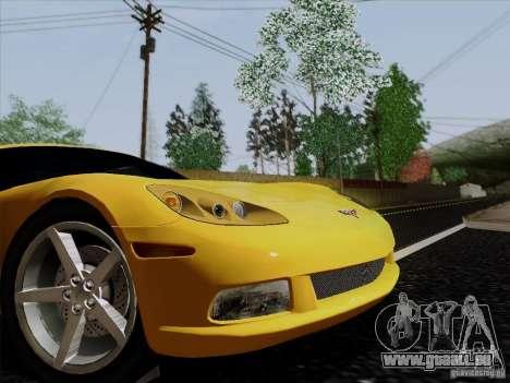 Chevrolet Corvette Z51 pour GTA San Andreas sur la vue arrière gauche